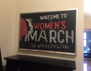 Act Like a Girl Goes to Washington : Pre-march