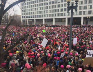 Act Like a Girl Goes to Washington : At the March